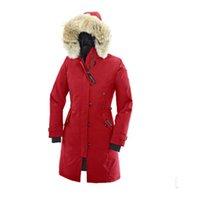 casacos longos venda por atacado-Alta Qualidade Da Mulher Dos Homens de Inverno Marca De Luxo Pato Zíper Quente Longo Comprimento Casaco Jaqueta Frete Grátis