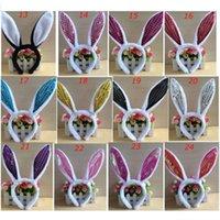 bandeaux de lapin de pâques achat en gros de-Oreilles de lapin de Pâques Hairband pour enfants Bandeau Adulte Tête Cerceaux Parti Cosplay Bunny Props Festival Filles Dames Accessoire De Cheveux Chapeaux DHL