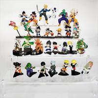 une pièce de dragon ball pvc achat en gros de-6pcs / 10pcs / 12pcs / 13pcs / 16pcs Dragon Ball Goku Vegeta Shenron Figurine Naruto One Piece Luffy Figurines Modèle Kid Jouets MX191105