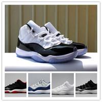 ingrosso nero 11s-Commercio all'ingrosso 11 Prom Night Platinum Tinta Midnight Navy Nero Stingray Bred Concord Space Jam Shoes 11s Mens Womens Kids Basketball Sneaker