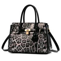 projeto do leopardo malas venda por atacado-Nova Marca de Moda Padrão de Leopardo Mulheres De Couro de design de Luxo Bolsas Grande capacidade Tote Bag Senhoras Sacos de Ombro Feminino Messenger Bag
