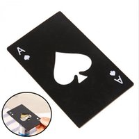 botella de tarjeta de crédito al por mayor-Abrebotellas de cartas de póker Abrebotellas creativas de acero inoxidable Abrebotellas de tarjetas de crédito Herramientas de cocina para el hogar HHAA657
