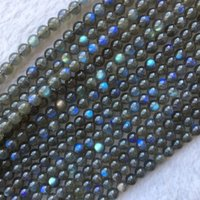 Wholesale african loose beads resale online - High Quality Natural Genuine Dark Blue Flash Light Labradorite Round Jewelery Loose Beads quot CJ191128
