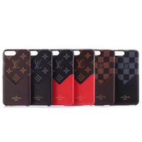 carteira de glitter preto venda por atacado-2018 v slot para cartão de telefone case para iphone xs max xr moda anti-knock casos pele de couro para iphonex 8 8plus 7 7 mais capa