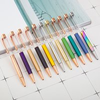 Wholesale dual writing pen for sale - Group buy Pens Crystal pen creative ballpoint pen Office stationery gift multi function capacitive pen Dual use touch screen Business