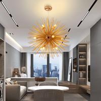 bougies violettes achat en gros de-Moderne or global design lustre éclairage pour salle à manger luxe décor à la maison luminaires led lampes d'intérieur accrocher lustres nouvelle arrivée