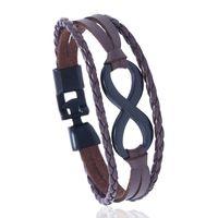 diseño de brazaletes de mano al por mayor-Infinity Peace Leaf Hamsa Hand design Cuff Bangle Fashion Handnade Hombres Mujeres Pu pulseras de cuero Hombre Mujer Joyería de regalo