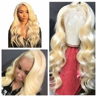 Wholesale Top Quality Synthetic Lace Front Wig Long Body Wavy Blonde Wigs for Women Natural Hairline Blonde Cosplay Party Wigs Glueless Heat Resistant