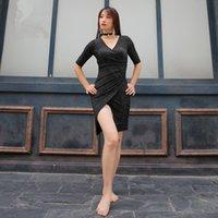 trajes de dança do ventre preto venda por atacado-Mulheres negras Sexy Dança Do Ventre Dança Oriental Terno Trajes de Dança Do Ventre Belly Dança Do Ventre Vestido Roupas de Desempenho