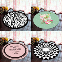 Wholesale cushion bath mat resale online - Round Carpets For Computer Swivel Chair Cushion Geometry Printed Parlor Bedroom Chair Rugs Toilet Bath Decorate Non Slip Door Mat wn3E1
