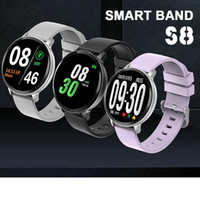 Wholesale gps run tracker online – S8 Smart Watch Fitness Tracker Heart Rate Bracelet Smartwatch Minitor IP67 Waterproof Step Running Sport Men Women Smart Bracelet