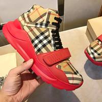 ingrosso tenuto caldo scatola-Scarpe da uomo Moda Sneakers in cotone a quadri vintage con scatola traspirante Mantieni calde chaussures per uomo Scarpe casual Uomo BL665 Moda Lusso