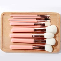 Wholesale wooden handle hair brush sets resale online - 2019 Hot Makeup Brush Set Muiticolor Wooden Handle Cosmetic Tools Kits Soft Fashion Multifunction Make Up Brushes Fast Shipping T0901