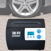 auto luftdruckpumpe großhandel-Auto Auto Luftkompressor Reifenfüller Pumpe mit voreingestelltem Reifendruck und Aufblasen Auto-Stop-Funktion für Reifen 12 V Digital