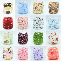 Wholesale nappy fastener baby diapers for sale - Group buy Baby Diaper Nappy Pants Infant Boy Girl Cloth Diapers Adjustable Organic Printed Cartoon Washable Waterproof Reusable