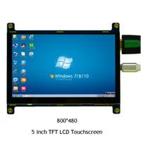 tft touch hdmi großhandel-HF 800 * 480 HD HDMI 5 Zoll USB Touchscreen Display TFT LCD Panel Modul für Banane Pi Himbeer Pi 2 Himbeere 3 Modell B / B +