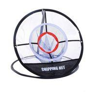 soğutma pop toptan satış-Serin PGM Golf Pop UP Kapalı Açık Yongalama Pitching Kafesleri Paspaslar Uygulama Kolay Net Golf Eğitim Yardımları Metal + Net