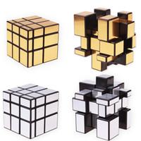 ingrosso 3x3x3 cubo specchio-3x3x3 cubo specchio magico Cubo puzzle rivestito in fusione Cubo magico velocità professionale Neo Cubo Magico Giocattoli educativi per bambini