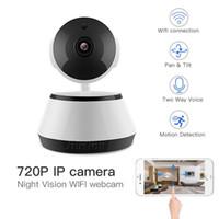 grabadoras de video profesionales al por mayor-Cámara Wifi profesional Video HD Grabadora de Audio Cámara de Vigilancia Almacenamiento en la Nube Audio de 2 Vías Detección de Movimiento Visión Nocturna