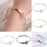 ingrosso lunghi i braccialetti del polsino-Braccialetti a forbice Braccialetti a catena lunga in oro con braccialetti per le donne