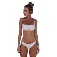sexy bikini reines mädchen großhandel-Sommer Sexy Frauen Pure Color Bikini Plus Size Bademode 6 Farben Split Badeanzüge Schnell trocknend Enge Bademode Mädchen Bodysuits