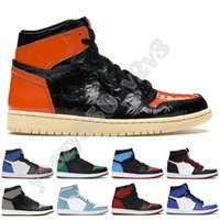 Wholesale cow shoes women resale online - Newest High Flints Bred s Men Women Jumpman Basketball Shoes Concord White Royal Toe Hare Space Stylist Sneakers Trainer US13