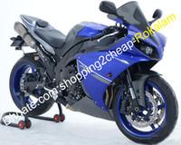 Wholesale moto fairings set resale online - Fashion YZF R1 Full set Cowlings For Yamaha YZF R1 Blue Black Race Moto Bike Fairing Kit Injection molding