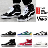 vans shoes canvas al por mayor-Original Vans old skool sk8 hi mens para  mujer b27f9e3214d
