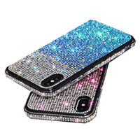 Wholesale For Iphone pro xr x xs max plus Rhinestone phone Case fashion premium luxury bling Glitter shockproof case girl