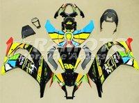 zx 14 verkleidungen großhandel-3Gifts Neues ABS-Motorradfahrrad-Verkleidungs-Kit passt für Kawasaki Ninja ZX-10R ZX10R 2011 2012 2013 2014 11 12 13 14 15 kühlen Regenbogen