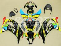 ninja de bicicleta kawasaki venda por atacado-3Gifts Novo ABS Motocicleta bicicleta Fairings Kit Apto para kawasaki Ninja ZX-10R ZX10R 2011 2012 2013 2014 2015 11 12 13 14 15 cool rainbow