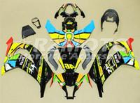 ingrosso kit abs per moto-3Gifts Nuovo Kit moto carenature ABS adatto per kawasaki Ninja ZX-10R ZX10R 2011 2012 2013 2014 2015 11 12 13 14 15 arcobaleno fresco