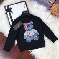 Wholesale wool baby clothes dresses resale online - Hot Sale Boy Sweater Autumn Brand Wool Knitted Pullover Cardigan For Baby Girls sweaters Children dresses Clothes Kids Top