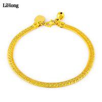 gold knochen link kette großhandel-Die Armband-24k Goldfarbe der heißen Verkaufs-Frauen füllte Verzierungs-Schlangen-Knochen-Kettenarmband-Frauen vorzügliche Schmucksache-Geschenke