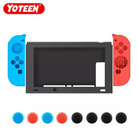 varas de alegria venda por atacado-Yoteen 1 Conjunto de Caso Para Nintend Switch Silicone Macio Capa Protetora Com Joy-con Thumb Vara Caps T190624