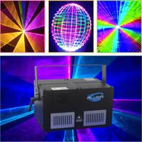 lazer dj al por mayor-Tarjeta SD 8 vatios rgb ILDA RGB animación a todo color Luz láser ILDA dj Lazer light