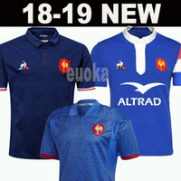 Wholesale shirt grey online - New style France Super Rugby Jerseys France Shirts Rugby Maillot de Foot French BOLN Rugby shirt size S XL