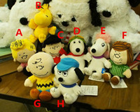 Wholesale peanut plush doll resale online - Popular Peanuts Comics Plush Toys cm Snoopy Charlie Brown Figures Doll Styles Stuffed Animals Dolls For Kids Gifts