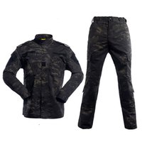 Wholesale black paintball uniform for sale - Group buy Tactical Combat Uniform Camouflage Hunting Suit Wargame Paintball Army Clothing Set Jacket Pants