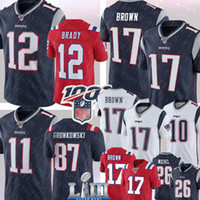 Wholesale rob gronkowski jersey resale online - New Englan Patriots Antonio Brown Jersey Tom Brady Julian Edelman Rob Gronkowski Josh Gordon Sony Michel Keal Harry Football