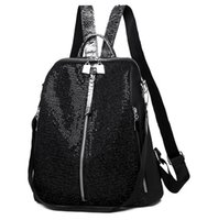 Wholesale beads school bags resale online - Backpack European and American sequins outdoor travel bag waterproof backpack student school bag