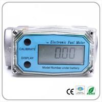 indicador de flujo al por mayor-Medidor de flujo de turbina digital medidor de combustible de gasolina caudalimetro Medidor de flujo plomeria Sensor indicador de flujo de bombeo Contador DN25 G1.0