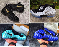 Wholesale kids basketball shoes for sale resale online - Mens Penny Hardaway pro basketball shoes for sale youth kids foam black gold blue red Alternate Galaxy boots with original box
