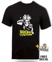 t back ball mujeres al por mayor-DBZ Future Trunks camiseta, Regreso al futuro inspirado, anime Dragon ball z tee Hombres Mujeres Unisex Camiseta de moda Envío Gratis Divertido Cool Top