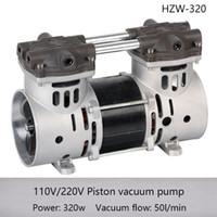 piston electrico al por mayor-HZW-320 110 / 220v Bomba de vacío de succión de pistón seco de alta presión eléctrica 800mmHg con 50LPM