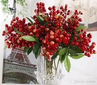 ingrosso bacche artificiali-California Artificial Decorative PE Sunshine Bush Berry Bouquet Frutta Decorativa Fiori Home Decor mirtillo