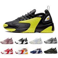 zapato deportivo mujer gris al por mayor-Nike Triple Black Creamy White Zoom 2K M2K men running shoes Tekno Race Red Royal Blue Dark Grey for men's women sports sneaker 36-45