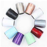 farbe gläser porzellan großhandel-10 Unzen Edelstahl Kurve Tumbler doppelwandige Isolierung Vakuum Wasser Auto Tasse Regenbogen Farbe Kaffeetassen Bierkrug Weingläser T2I55286