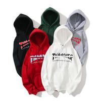 пламенный свитер оптовых-Thrashers новый дизайнер толстовка с капюшоном с пламенным принтом классические толстовки уличный скейтборд марка толстовка высокого качества роскошный пуловер мужской женский свитер