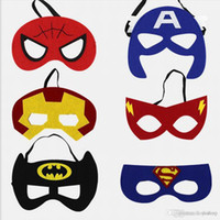 Wholesale justice league toys for sale - Group buy Helloween Superhero Masks Kids Party Mask Cosplay Toys Super Hero Masquerade Masks Justice League Birthday Favors Toy For Children Xmas Gift